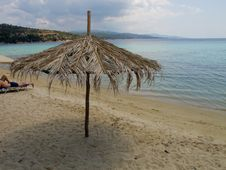 Free Umbrela On The  A Greek Beach Stock Photos - 20585373
