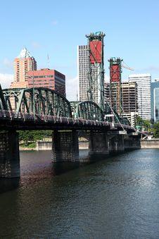 Free The Hawthorne Bridge And Portland OR., Skyline. Stock Images - 20585394