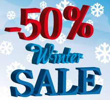 Free Promotion Winter Sale Background Stock Image - 20585451