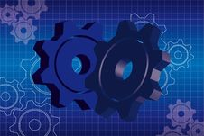 Free Blue Gears Background Stock Photos - 20585643