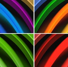 Free Multicolored Waves Abstract Background Stock Image - 20586041