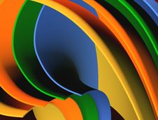 Multicolored Waves Abstract Background Stock Photo