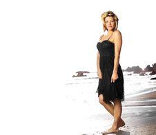 Free Woman Walking On Beach Royalty Free Stock Photo - 20586265