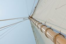 Free Views Of The Private Sail Yacht. Stock Photos - 20586563