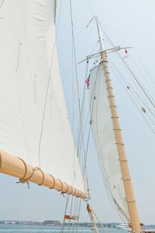 Views Of The Private Sail Yacht. Stock Images