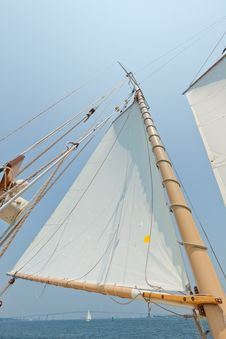 Free Views Of The Private Sail Yacht. Stock Photography - 20586642
