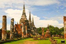 Free Ancient Palace Of Ayutthaya Royalty Free Stock Photo - 20586975