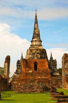 Ancient Palace Of Ayutthaya Stock Photos