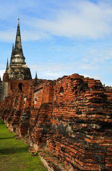 Ancient Palace Of Ayutthaya Stock Photo