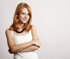 Free Portrait Of Cute Young Redhead Business Woman Stock Photos - 20587333