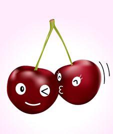 Free Cherry Kiss Stock Image - 20588001