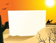 Free Desert Blank Board Royalty Free Stock Image - 20588006
