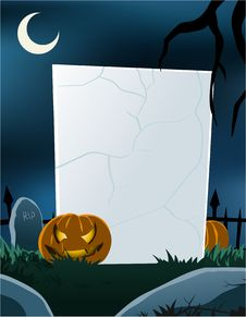 Free Halloween Theme Vertical Blank Board Royalty Free Stock Photography - 20588017