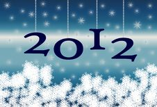 Free New Year 2012 Fund Royalty Free Stock Photography - 20588037