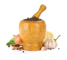 Free Food Ingredients And Spice On White Royalty Free Stock Photos - 20588098