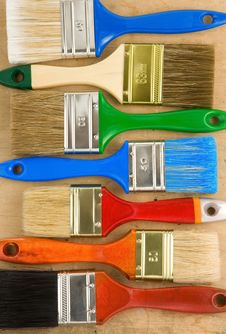 Free Paintbrush On Wooden Background Royalty Free Stock Photography - 20588187