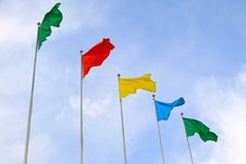 Free All Sorts Of Color Flags Royalty Free Stock Photo - 20588325