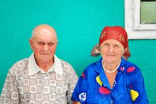 Free Old Peasant Couple Royalty Free Stock Image - 20588526