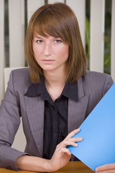Free Woman Holding File Royalty Free Stock Images - 20588649