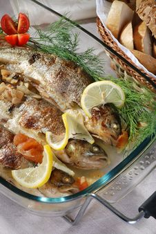 Free Roasted  Trout Royalty Free Stock Image - 20588676