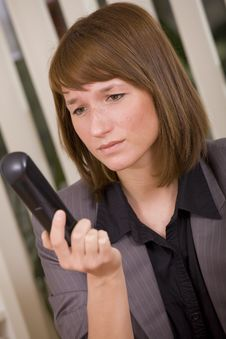 Free Businesswoman Waiting For Call Stock Photo - 20588690