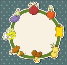 Cartoon Health Fruit And Vegetable Card Stock Photos