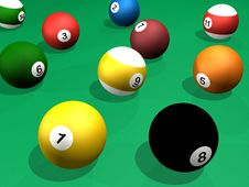 Free Billard Balls Pack 3d Rendering Pool Stock Photography - 20589062