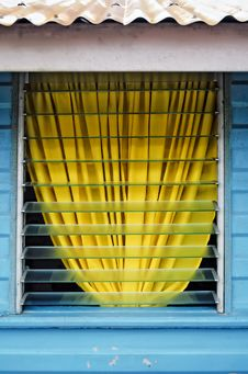 Free Yellow Curtain Royalty Free Stock Photo - 20589255