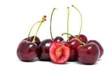 Free Red Cherries With Stems Stock Photo - 20589350