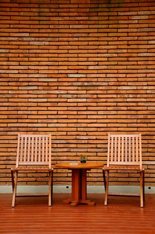 Free Brick Walls And Chair Stock Image - 20589451