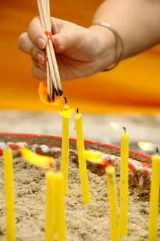 Free Hand With Incense Stock Image - 20589501