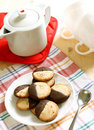 Free Cookies On Plate, Teapot And Cup Royalty Free Stock Images - 20595749