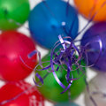 Free Colored Balls Flying, Blue Ropes Royalty Free Stock Photo - 20597925