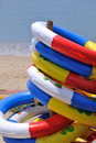 Free Life Buoy Stack At Sea Beach Royalty Free Stock Images - 20598299