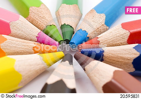 Free Color Pencils Stock Image - 20595831
