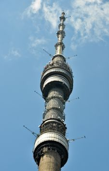 Television And Broadcasting Tower Ostankino Stock Photo