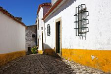 Free Street In Obidos Stock Photography - 20591862