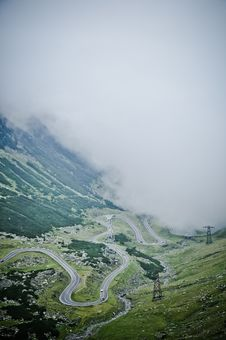 Free The Transfagarasan Road Seen From Above Stock Images - 20592104