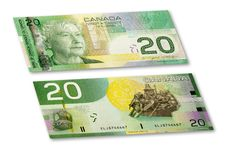 Canadian Banknote Stock Image