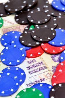 Free Winning Chips For Ten Billion Dollars Stock Photo - 20593300