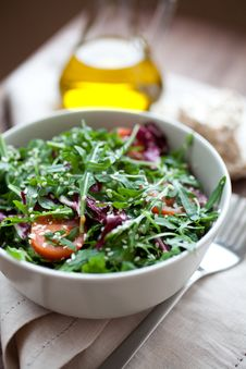 Free Fresh Arugula Salad Royalty Free Stock Photos - 20593648