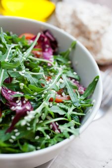 Free Arugula Salad Royalty Free Stock Photos - 20593708