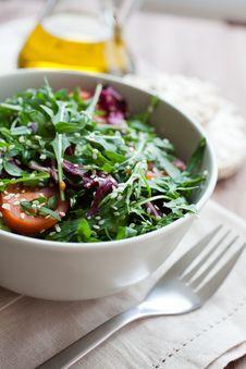 Free Arugula Salad Royalty Free Stock Images - 20593749