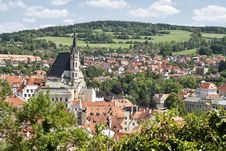 Free Cesky Krumlov With Church Of St. Vitius, Czech Rep Stock Photography - 20594062
