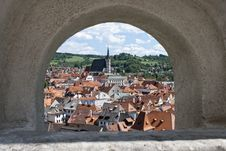 Free Cesky Krumlov With Church Of St. Vitius, Czech Rep Stock Image - 20594211