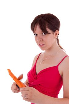 Young Woman With Vegetables Stock Photo