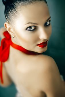 Free A Beautiful Girl With Red Lips Stock Photography - 20594652