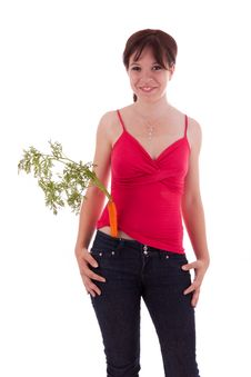 Free Young Woman With Vegetables Royalty Free Stock Photos - 20594718