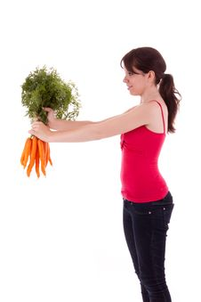 Free Young Woman With Vegetables Stock Photo - 20594750