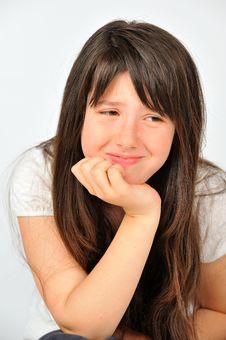 Free Teen Model Sad Girl Crying Royalty Free Stock Photos - 20595198